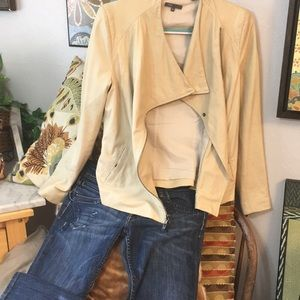 5067519da Amazing VINCE Soft Leather Vanilla Moto Jacket!!M
